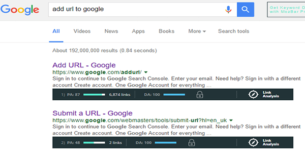Get your web 2 site indexed in Google search