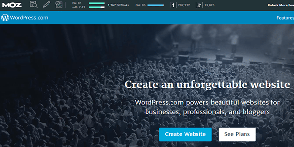 Go ahead and set up your free WordPress blog