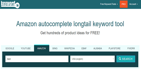 Use Keyword.io to find Amazon buying keywords