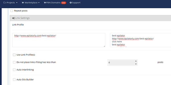 Set up your backlink anchor text profile