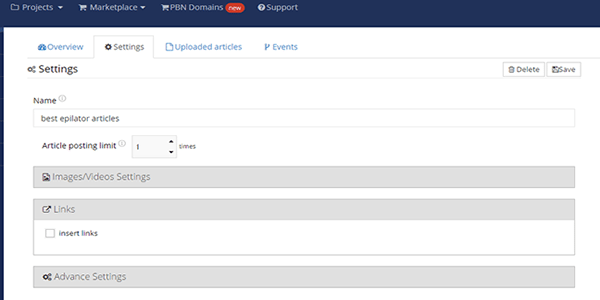 ignore the links tab settings