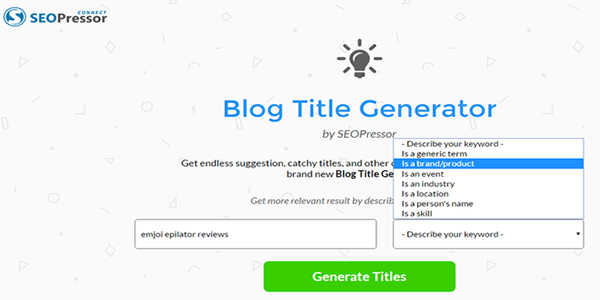 Open up SEO Pressor Blog Title Generator