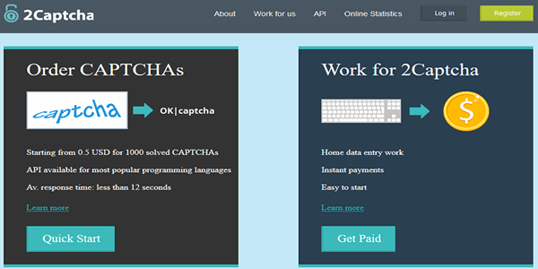We highly recommend 2captcha.com as the best premium captcha solving service to use