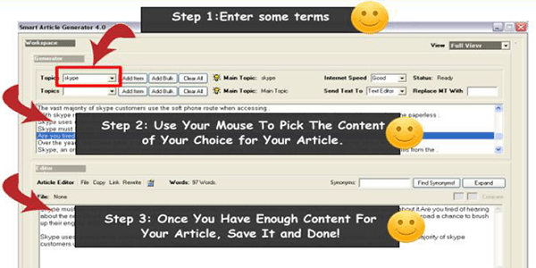 So what else can the Smart Article Generator do?