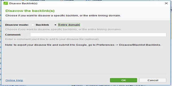 Disavow Entire Domain