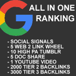 All in One Google Ranking Strategy Package