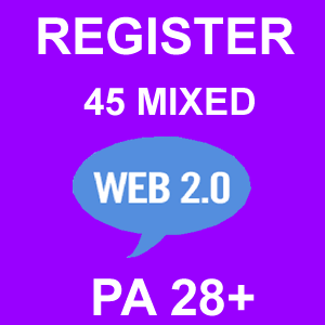 Register 45 Mixed Web 2.0 Blogs PA 28 Plus
