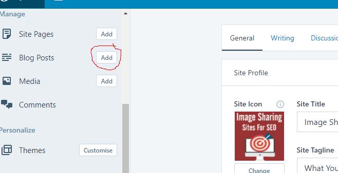 Add Blog Post Button